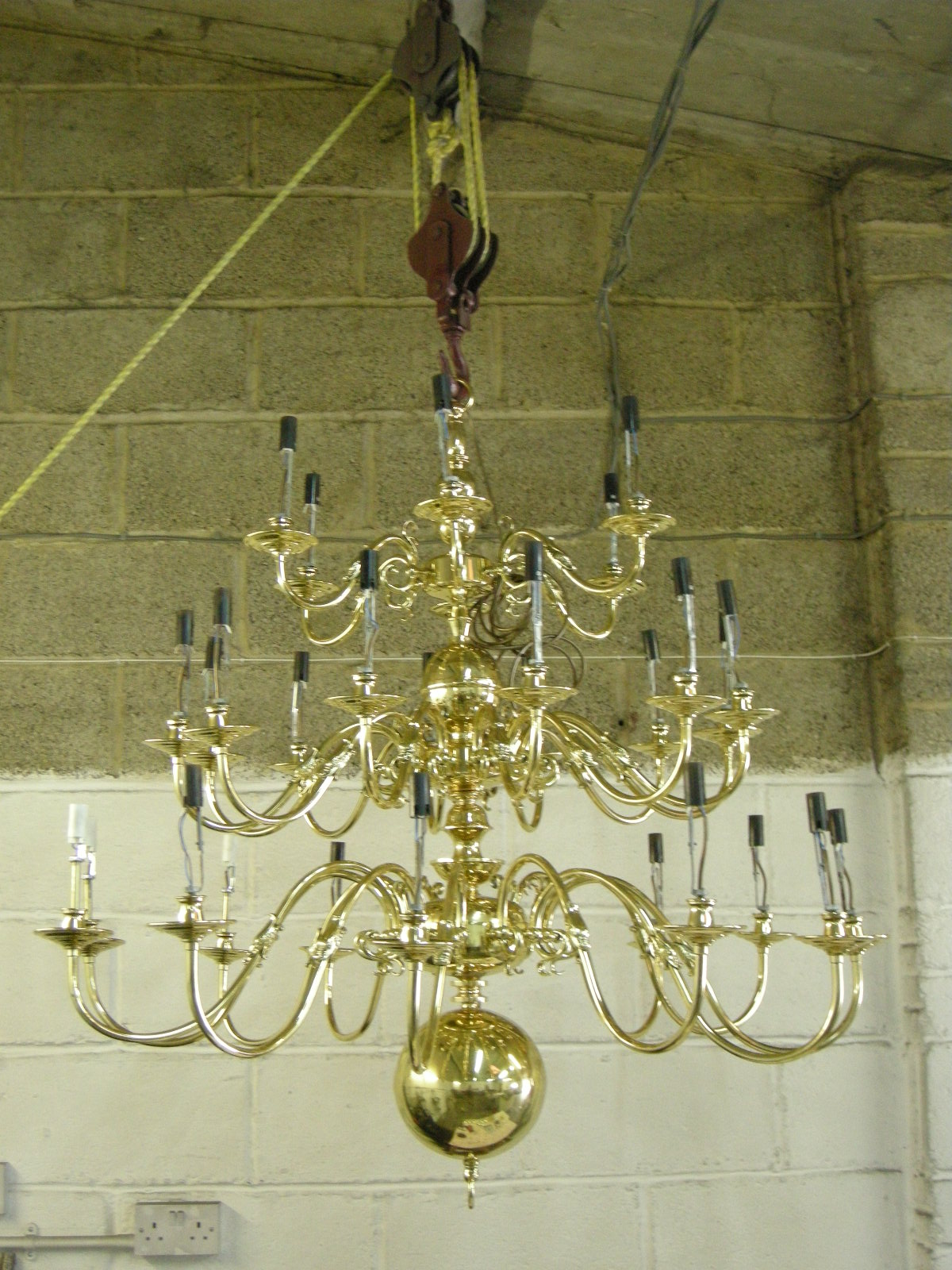 30 arm chandelier after restoration