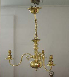 chandelier after restoration