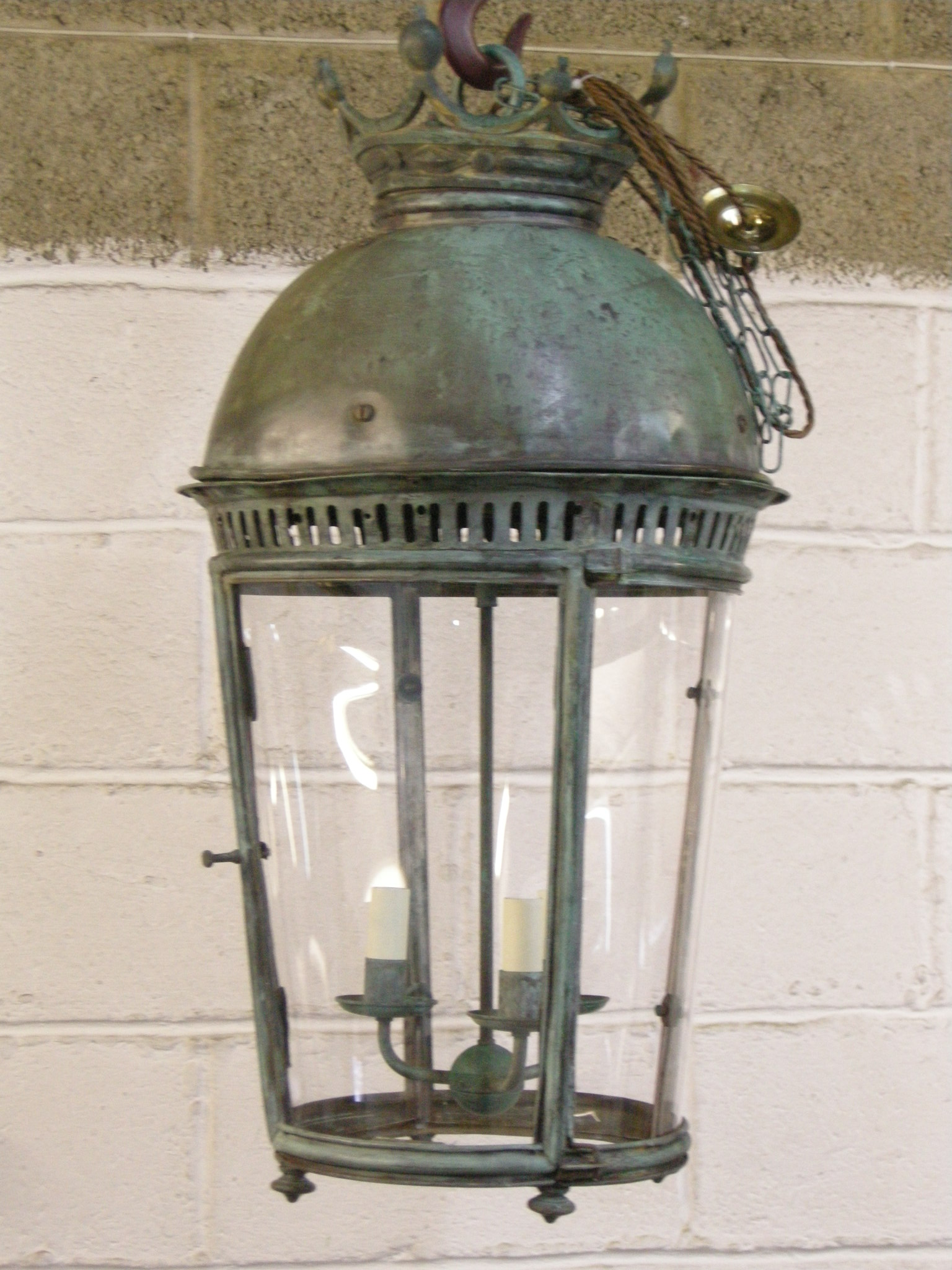 copper lantern after restoration
