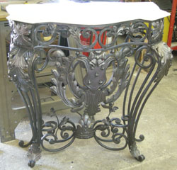 Wrought Iron Console Table After   Restoration