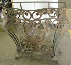 Wrought Iron Console Table Before Restoration
