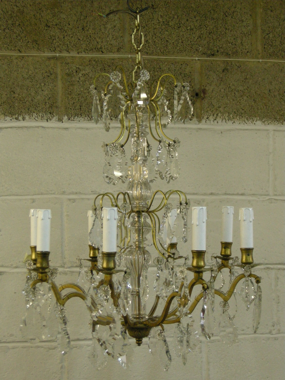 Antique chandelier restoration antique furniture crystal chandelier before restoration crystal chandelier after restoration antique metals chandelier repairs restoration arubaitofo Gallery