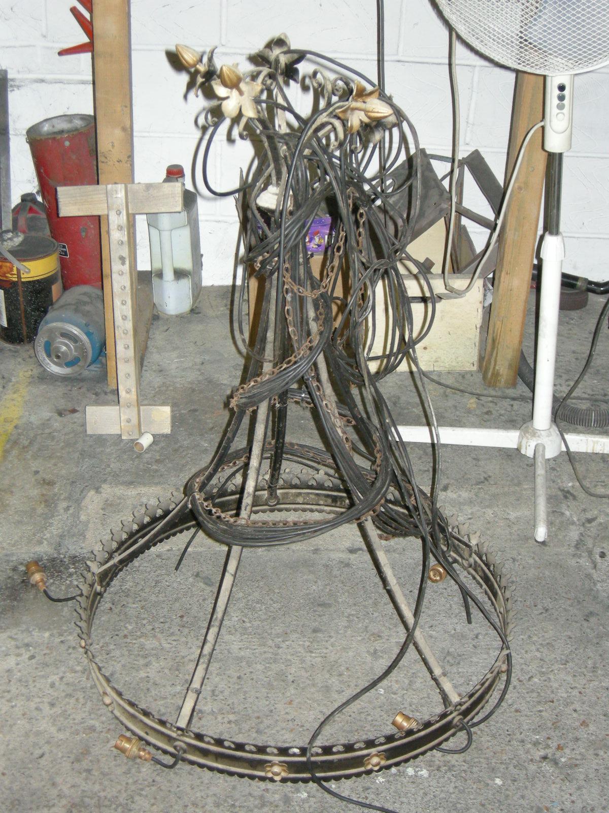 Antique metals chandelier repairs restoration chandelier before restoration chandelier after restoration arubaitofo Image collections