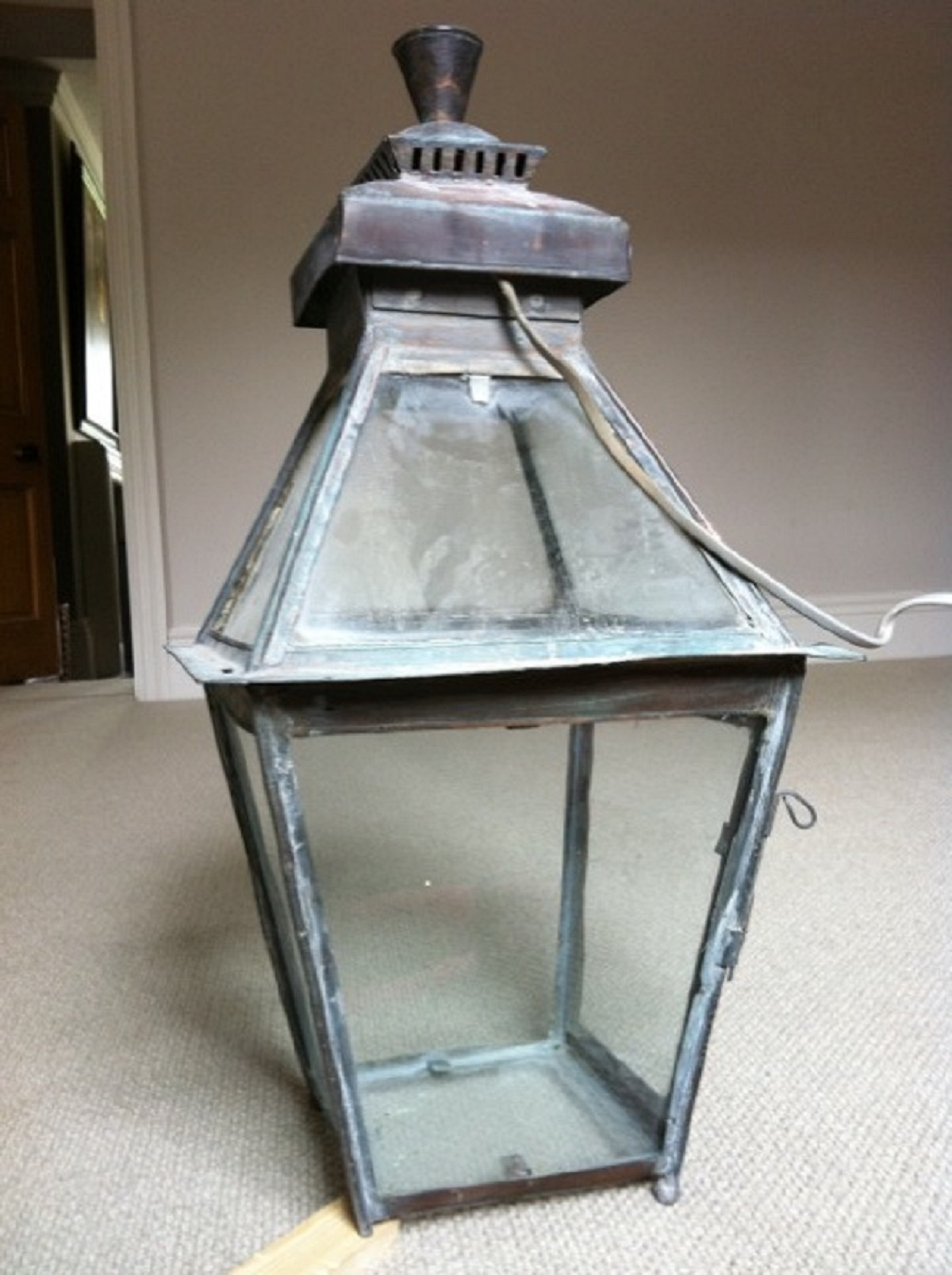 lantern before restoration