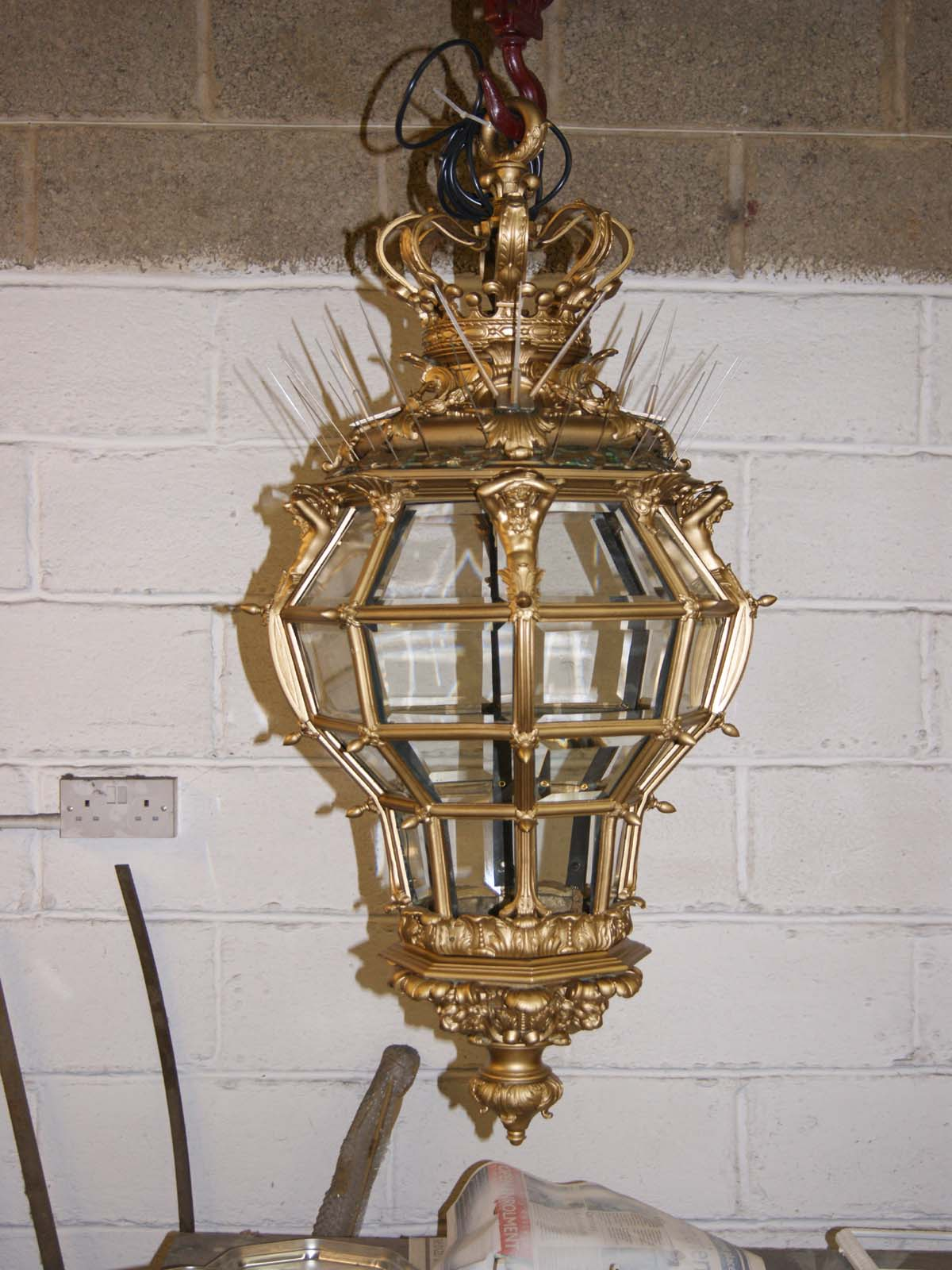 bronze lantern after restoration