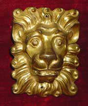 lion mount after cleaning and gilding