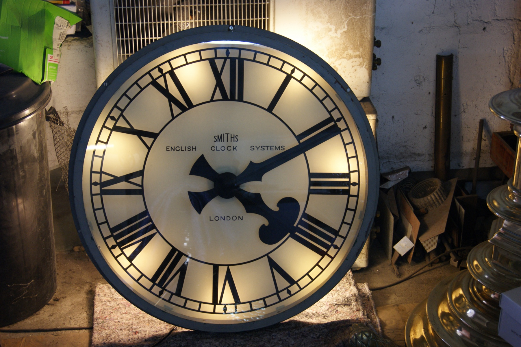 large illuminated clock