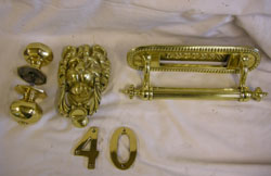 brass door furniture recycled for use again