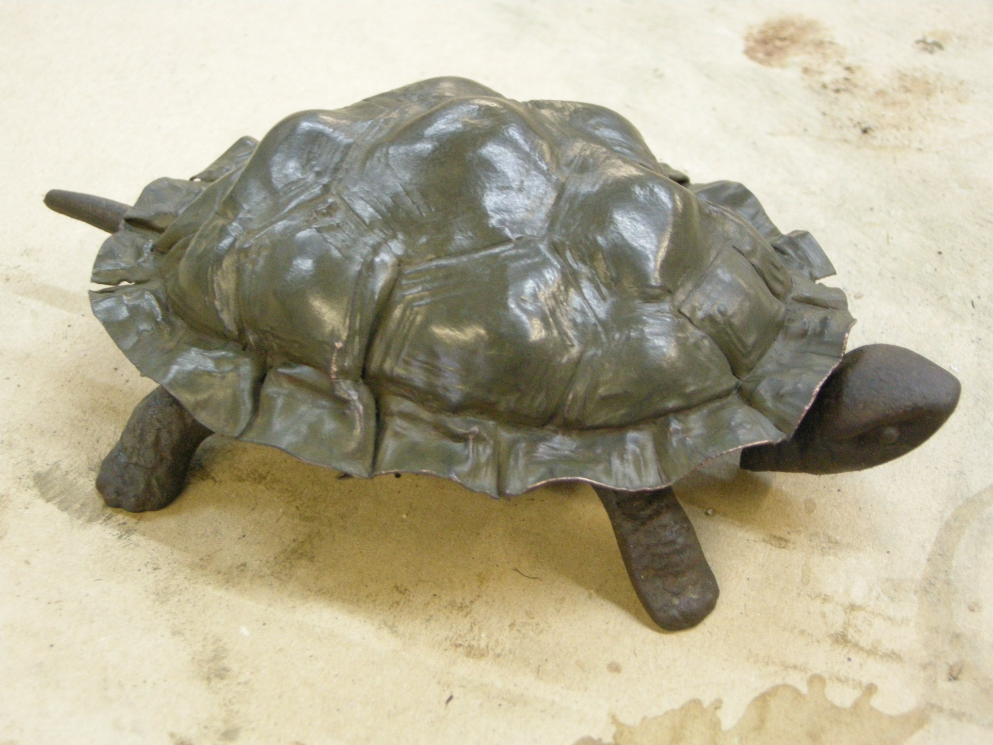 Tortoise table bell with   shell